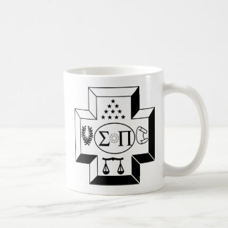 Sigma Pi Cross B+W Coffee Mug