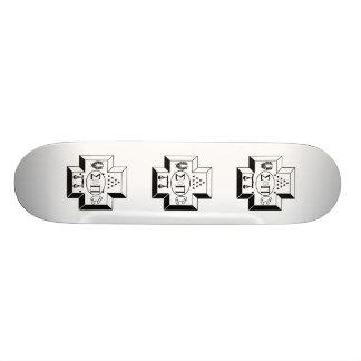 Sigma Pi Cross B+W Skateboard