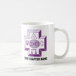 Sigma Pi Cross Color Classic White Coffee Mug