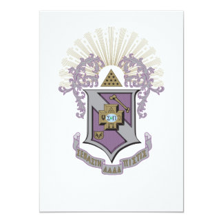 Sigma Pi Good Crest 4-C Card