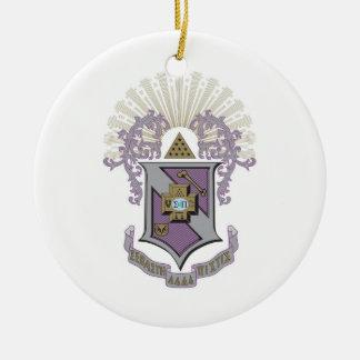 Sigma Pi Good Crest 4-C Christmas Ornament