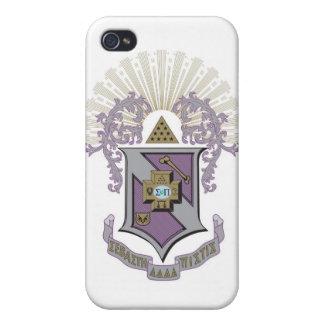 Sigma Pi Good Crest 4-C iPhone 4/4S Cases