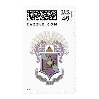 Sigma Pi Good Crest 4-C Postage Stamp