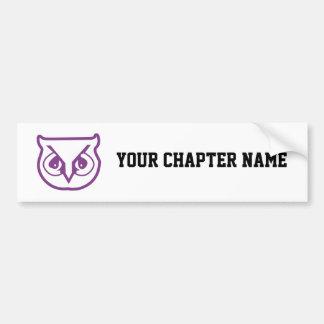 Sigma Pi Owl Color Bumper Sticker