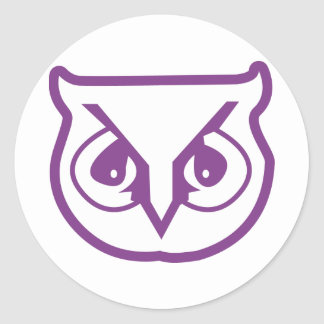 Sigma Pi Owl Color Classic Round Sticker