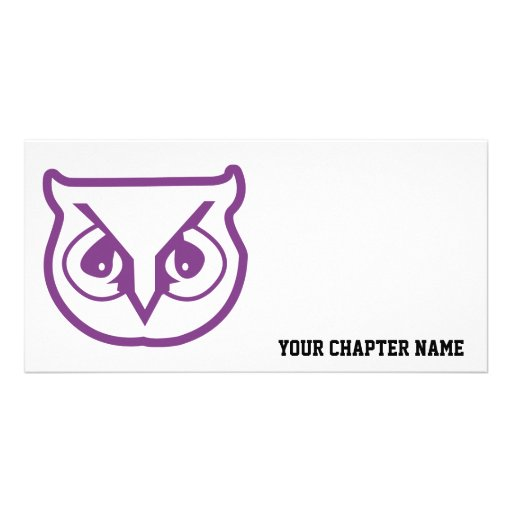 Sigma Pi Owl Color Picture Card