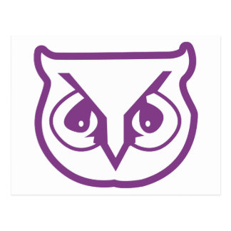 sigma pi owl color postcard