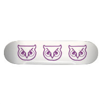 Sigma Pi Owl Color Skateboard Deck