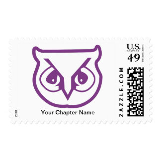 Sigma Pi Owl Color Stamp