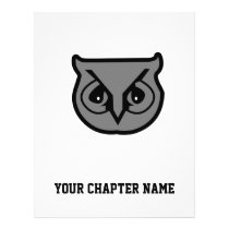 Sigma Pi Owl Gray Flyer