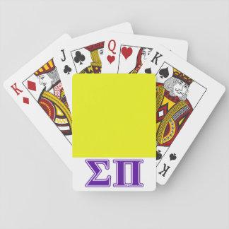 Sigma Pi Purple Letters Card Decks