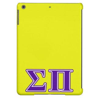 Sigma Pi Purple Letters Case For iPad Air