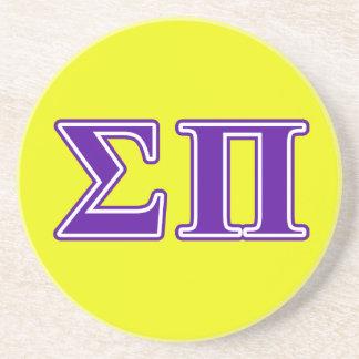 Sigma Pi Purple Letters Drink Coasters