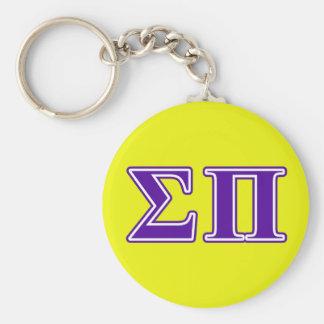 sigma pi purple letters keychain