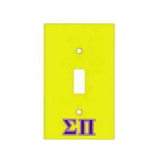 Sigma Pi Purple Letters Light Switch Plates