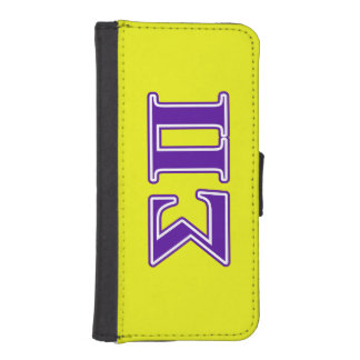 Sigma Pi Purple Letters Phone Wallets
