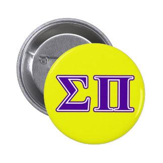 Sigma Pi Purple Letters Pinback Button