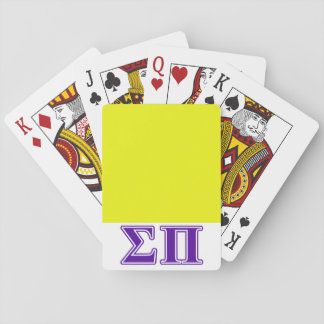 Sigma Pi Purple Letters Playing Cards