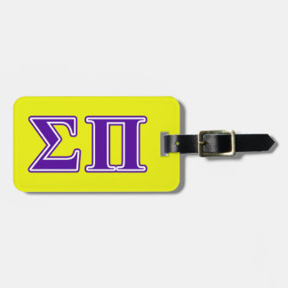 Sigma Pi Purple Letters Tags For Bags