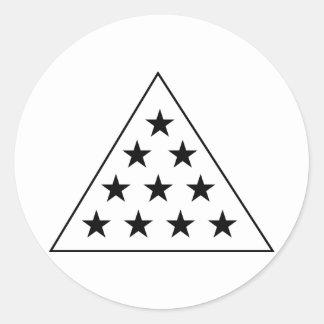 Sigma Pi Pyramid B+W Classic Round Sticker