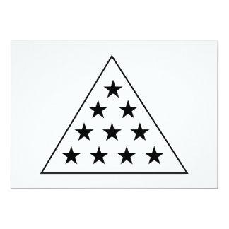 Sigma Pi Pyramid B+W 5x7 Paper Invitation Card