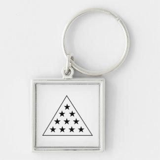 Sigma Pi Pyramid B+W Key Chain