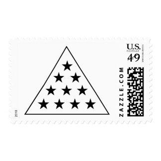 Sigma Pi Pyramid B+W Stamps