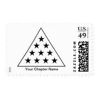Sigma Pi Pyramid B+W Postage