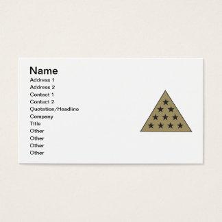 Sigma Pi Pyramid Gold Business Card