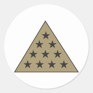 Sigma Pi Pyramid Gold Classic Round Sticker