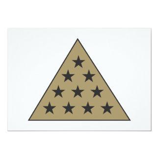 Sigma Pi Pyramid Gold 5x7 Paper Invitation Card