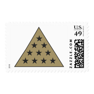 Sigma Pi Pyramid Gold Postage Stamp