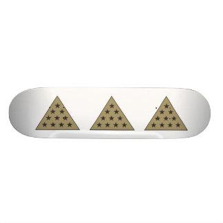 Sigma Pi Pyramid Gold Skate Boards