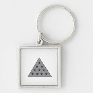 Sigma Pi Pyramid Gray Keychain