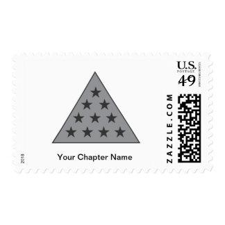 Sigma Pi Pyramid Gray Postage Stamps