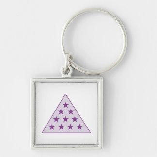 Sigma Pi Pyramid Purple Key Chain