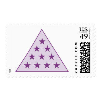 Sigma Pi Pyramid Purple Postage Stamp