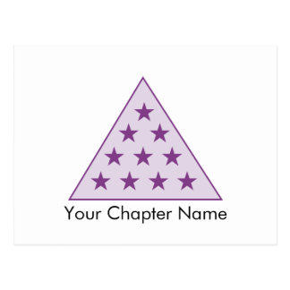 sigma pi pyramid purple postcard