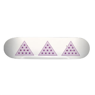 Sigma Pi Pyramid Purple Skateboard Deck