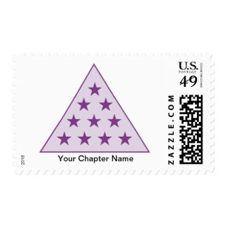 Sigma Pi Pyramid Purple Stamps