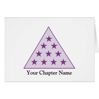 Sigma Pi Pyramid Purple Stationery Note Card