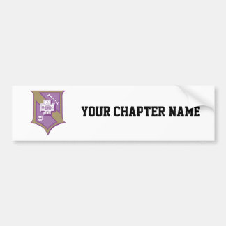 Sigma Pi Shield 2-Color Bumper Sticker