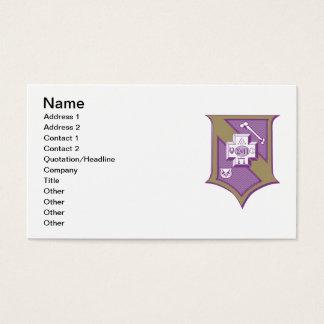 Sigma Pi Shield 2-Color Business Card