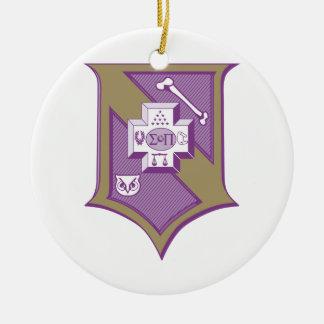 Sigma Pi Shield 2-Color Ceramic Ornament
