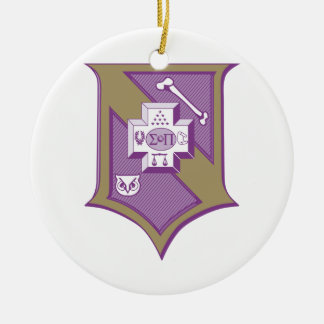 Sigma Pi Shield 2-Color Christmas Ornaments