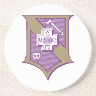Sigma Pi Shield 2-Color Drink Coaster