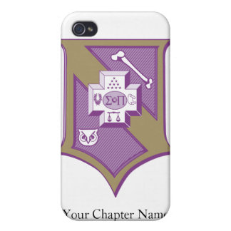 Sigma Pi Shield 2-Color Cover For iPhone 4