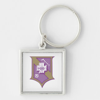 Sigma Pi Shield 2-Color Keychain