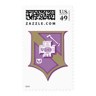 Sigma Pi Shield 2-Color Stamps