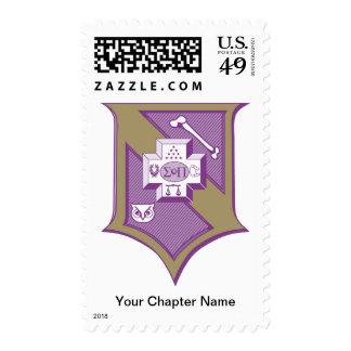 Sigma Pi Shield 2-Color Postage Stamp